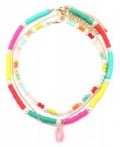 E-E16.1 N536-092A Necklace Set 3pcs wit Shell Multi Color