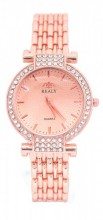 WA203-004 Quartz Watch Metal with Crystals Rose Gold
