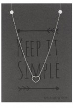B-B7.3 SN104-011 Necklace 925 Sterling Silver with Heart