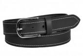 S-H4.3 BELTI-002 Grain Leather Belt Black 3.5x120cm