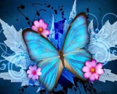 S-E1.3 Q419 Diamond Painting Set Butterfly 30x20cm