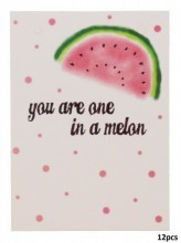 Giftcard for Jewelry You are one in a melon 10.5x14.8cm 12pcs