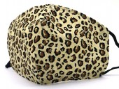 B-E10.1  SKA537 Cotton Fashion Mask with Room for Filter Washable - Leopard