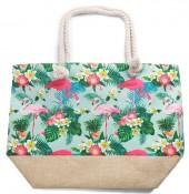Y-C2.1 BAG528-001E Beach Bag Jungle Flamingos
