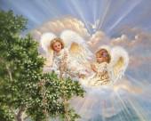 Q-C7.2 S357 Diamond Painting Set Angels 50x40cm