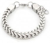 A-A9.3 B126-005 Stainless Steel Chain Bracelet Silver