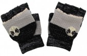 I-B5.1 Kids Gloves with a Bow Black-Grey