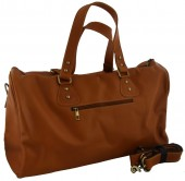 Z-B3.4 BAG-921 Luxury Leather Travel-Sport Bag 47x32x16cm Light Brown