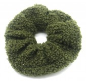 S-H7.3 H305-027E Scrunchie Teddy Green