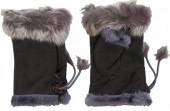 Z-F3.1 Hand Warmers with Fur Grey