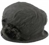 T-K2.1  Woolen Hat with Fake Fur Grey