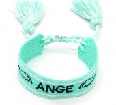E-D6.1 B2030-004 Woven Bracelet Ange Blue