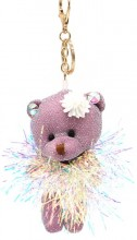 S-D1.1 KY2035-003F Keychain Glitter Bear 12cm Light  Purple