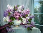 X-N8.2 Q169 Diamond Painting Set Flowers 30x20cm