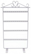 X-C9.1 PK424-020 Metal Earring Display for 24 pairs 30x15.5cm White
