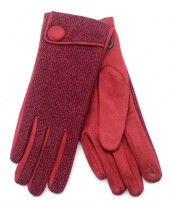 R-H3.2 GLOVE403-097D Gloves with Button Red