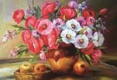 T-N2.1 X088 Diamond Painting Set Flowers 40x30cm