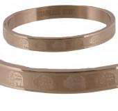 I-C21.3  Stainless Steel Rose Gold B004-004 Elephants