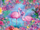 Q-H2.2 FZX301 Diamond Painting Set Flamingo Square Stones 50x40cm