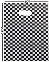 X-B4.2 Plastic Bag Checkered 55x45cm  100pcs
