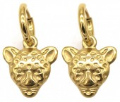 A-C5.1  E2011-009G S. Steel 10mm Earring with 15mm Tiger Gold