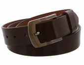 S-A7.1 Split Leather Belt 3.3x110cm Adjustable 93-104cm Brown
