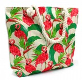Y-F5.3 BAG001-011 Beach Bag with Flamingos 44x34cm
