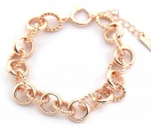D-C17.5 B2019-017 Metal Chain Bracelet Rose Gold