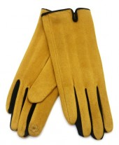 S-I1.3  GLOVE501-005A Soft Gloves Two-Tone Black-Yellow