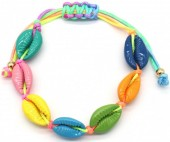 D-F7.1 B2001-022A Bracelet Multi Colored Shells