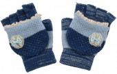 J-A1.2 Kids Gloves with a Bow Blue
