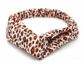S-E7.3  H039-004 Headband with Leopard Print White-Brown
