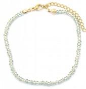 C-E11.1 B2061-001C Bracelet with Glass Beads Grey
