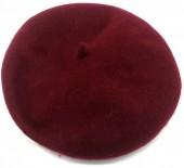 T-A2.2 HAT502-001A Trendy Woolen Baret Adjustable Size Red