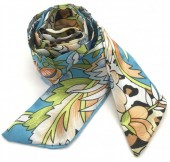 H415-001C Hair Scarf Leopard Mix 100x5cm Blue