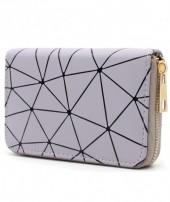 WA214-002 Wallet with Geometric Design Purple