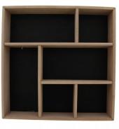 R-O3.1 Wooden Display Cabinet-Box 35x35x7cm Black