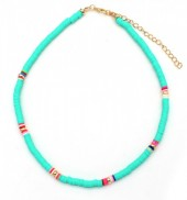 C-A6.5  N1925-007 Choker Surf Necklace 37 - 43cm Blue