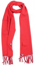 T-P7.2 SCARF406-002F Scarf with Fringes 170x31cm Red