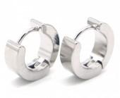A-B6.4 E301-034 S. Steel Earrings 13x4mm Silver