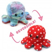 R-N7.1  T1209-001 Reversible Octopus 20cm Shiny Red-Blue