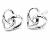 A-E3.2 SE104-159 Earrings 925S Silver 8mm Hearts