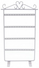 R-D8.2 PK424-020 Metal Earring Display for 24 pairs 30x15.5cm White