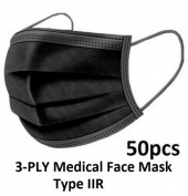Y-A5.3   3-PLY Medical Face Mask Type IIR - Black - 50pcs
