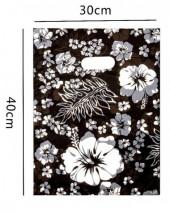 B-F23.1 Plastic Bag with Flower Print 40x30cm 100pcs
