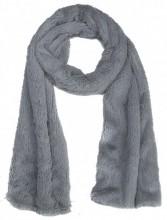 S-K1.2 S003-002 Soft Fake Fur Scarf 180x18cm Grey