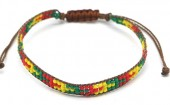 B-E4.3 B2039-017D Bracelet with Glassbeads Brown-Multi