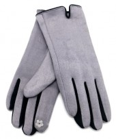 S-J5.1 GLOVE501-005C Soft Gloves Two-Tone Black-Grey