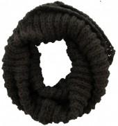 Y-D3.3 Knitted Loop-Col Scarf Dark Grey
