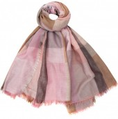 K-A2.2 S002-001 Soft Square Scarf Blocks Pink-Multi 140x140cm
